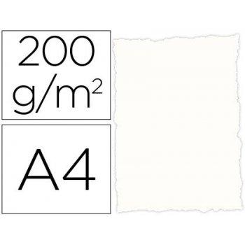 Papel pergamino din a4 troquelado 200 gr color rustico blanco paquete de 25 hojas