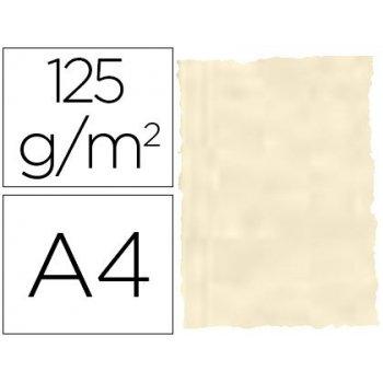 Papel pergamino din a4 troquelado 125 gr piel elefante color hueso paquete de 25 hojas