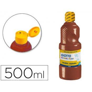 Tempera liquida giotto escolar lavable 500 ml marron