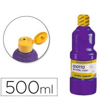 Tempera liquida giotto escolar lavable 500 ml violeta