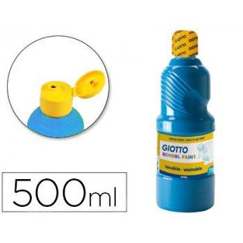 Tempera liquida giotto escolar lavable 500 ml azul cyan