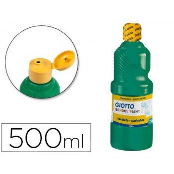 Tempera liquida giotto escolar lavable 500 ml verde oscuro