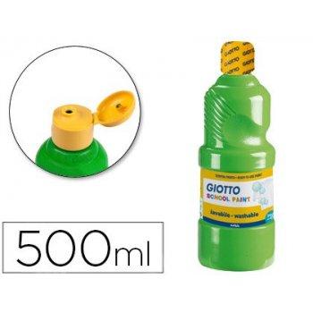 Tempera liquida giotto escolar lavable 500 ml verde cinabrio