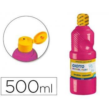 Tempera liquida giotto escolar lavable 500 ml magenta