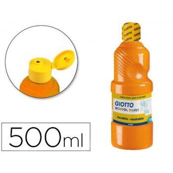 Tempera liquida giotto escolar lavable 500 ml naranja