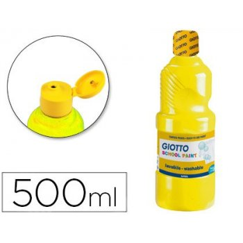 Tempera liquida giotto escolar lavable 500 ml amarillo