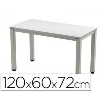 Mesa de oficina rocada executive 200ad02 aluminio  gris 120x60 cm