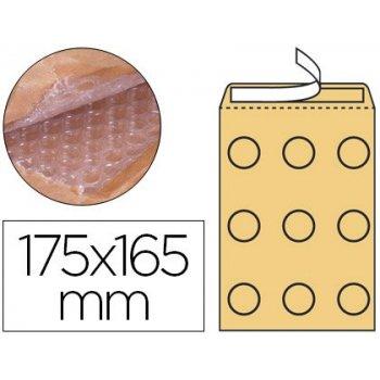 Sobre burbujas crema q-connect cd 175 x 165 mm caja de 100