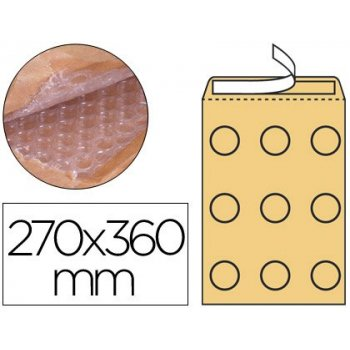 Sobre burbujas crema q-connect h 5 270 x 360 mm caja de 50 un