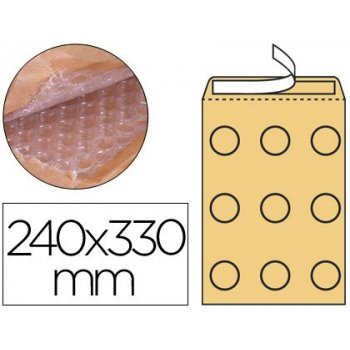 Sobre burbujas crema q-connect g 4 240 x 330 mm caja de 50
