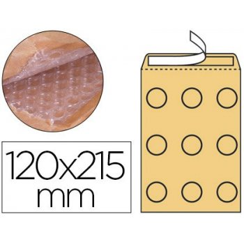 Sobre burbujas crema q-connect b 00 120 x 215 mm caja de 100