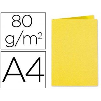 Subcarpeta cartulina exacompta din a4 amarillo sol 80 gr