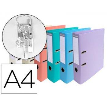 Archivador de palanca exacompta carton forrado pvc din a4 colores pasteles surtidos lomo 70 mm con