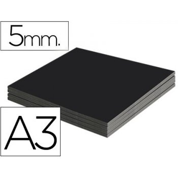 Carton pluma liderpapel negro doble cara din a3 espesor 5 mm