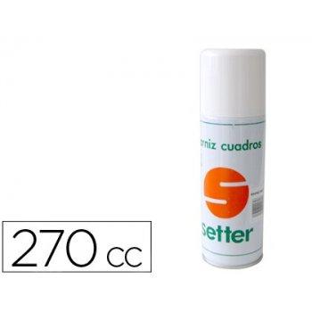 Barniz setter spray fijativo para oleo acabado brillo 270cc