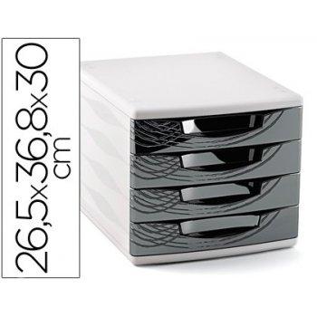 Fichero cajones de sobremesa cep 265x368x300 mm 4 cajones color negro