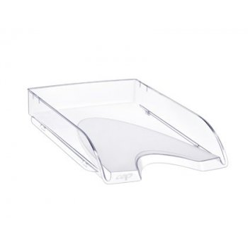 Bandeja sobremesa cep plastico transparente 348x257x66 mm