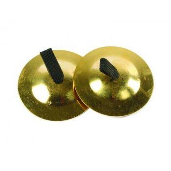 Crotalo amaya de cobre con agarre de tela set de 2 unidades diametro 6 cm