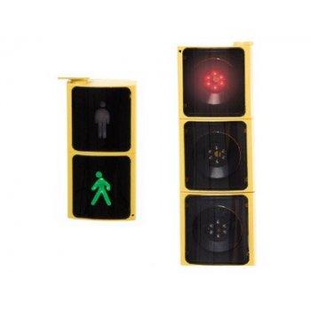 Semaforo amaya led con control remoto para vehiculos y peatones