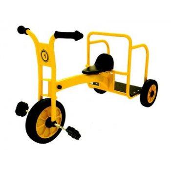 Triciclo amaya escolar individual de acero galvanizado con ruedas de caucho con rodamientos