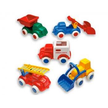 Juego vikingtoys mini vehiculos polipropileno flexible 14 cm caja de 18 unidades surtidas