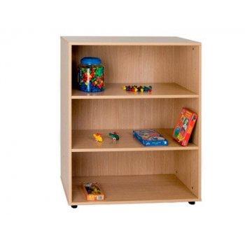 Mueble madera mobeduc intermedio estanteria haya blanco 90x112x40 cm
