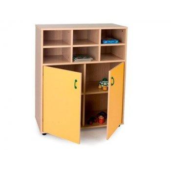 Mueble madera mobeduc intermedio armario y casillero haya blanco 90x112x40 cm