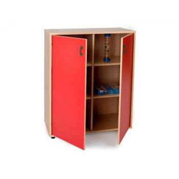Mueble madera mobeduc intermedio armario 6 casillas haya blanco 90x112x40 cm