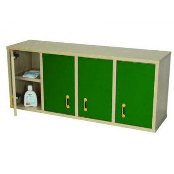 Mueble madera mobeduc casillero 8 casillas con puertas haya blanco 100x42x28 cm