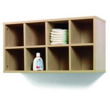 Mueble madera mobeduc casillero 8 casillas haya blanco 80x42x28 cm