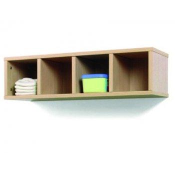 Mueble madera mobeduc casillero 4 casillas haya blanco 80x22x28 cm