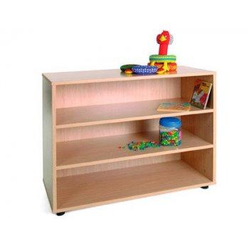 Mueble madera mobeduc bajo estanteria haya blanco 90x76,5x40 cm