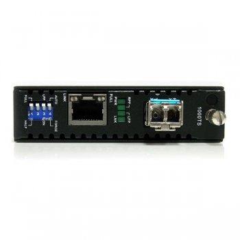 StarTech.com Conversor de Medios Gigabit Ethernet 1Gbps a Fibra Monomodo Conector LC -40km