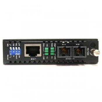 StarTech.com Conversor de Medios Ethernet 10 100 Mbps a Fibra Modo Único Monomodo Conector SC - 30km