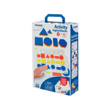 Juego miniland activity logical blocks 60 bloques + 16 actividades