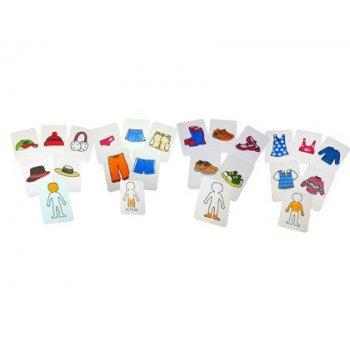 Juego tarjetas henbea ropa plastico flexible 12x8.5 cm set 20 unidades
