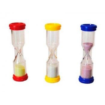 Reloj de arena henbea plastico resistente marca de 1 a 3 minutos 10x3 cm