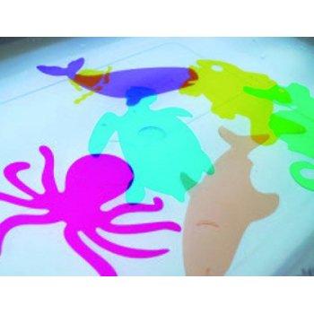 Juego plantillas flexibles henbea animales del mar medidas 15x21 cm set 6 unidades