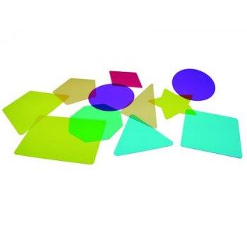 Juego plantillas 2d translucidas henbea para mesa con luz led colores surtidos