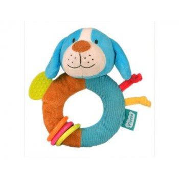 Sonajero anillo fiesta crafts perro con mordedor y anillas suaves 15x15 cm