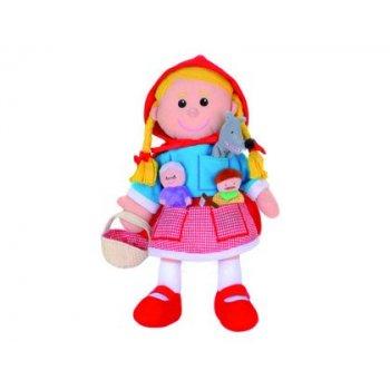 Marioneta fiesta crafts de tela para mano y dedos caperucita 17x33 cm