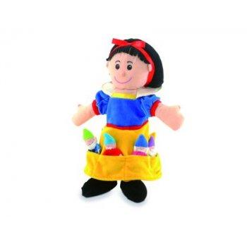 Marioneta fiesta crafts de tela para mano y dedos blancanieves 17x33 cm