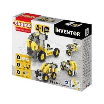 Set de construccion engino inventor vehiculo industrial 4 modelos