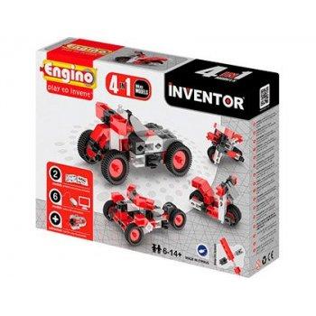 Set de construccion engino inventor motos 4 modelos