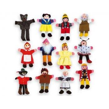 Juego andreutoys marioneta de mano personajes cuentos infantiles surtidos 30cm caja de 12 unidades