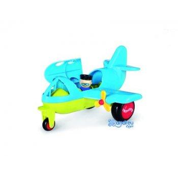 Juego vikingtoys avion pasajeros 2 personajes incluidos polipropileno flexible 30 cm