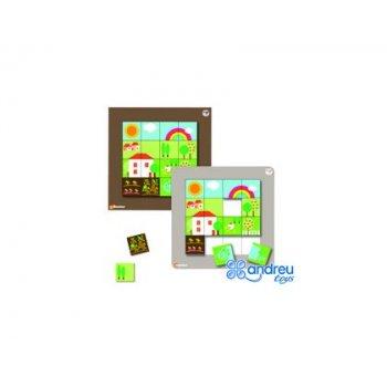 Juego sepp jeux mosaico magentico paisajes 32,5x22,5x7,2 cm