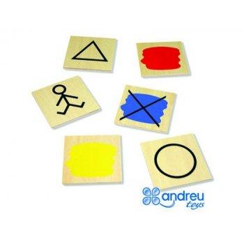 Juego andreutoys bloques logicos atributos 20 piezas 27x10x5 cm