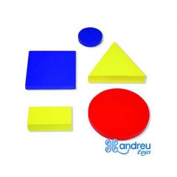 Juego ambitoys figuras geometricas madera 48 piezas 24,5x15x8 cm