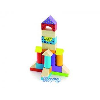 Juego ambitoys construccion bloques madera 100 piezas 18x18 cm